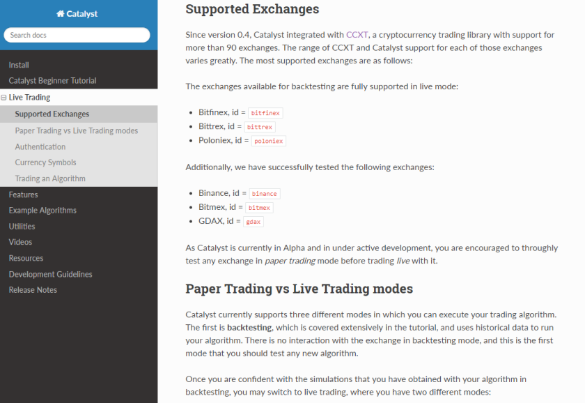 Catalyst is an algorithmic trading library for crypto-assets written